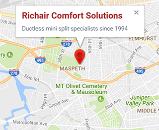 ductless service queens manhattan bronx brooklyn new jersey