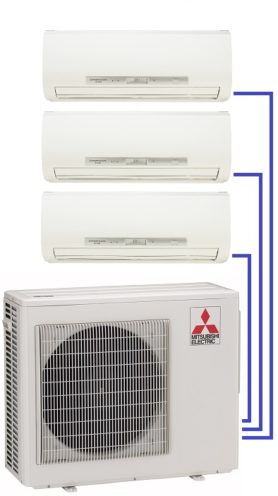 Milti-room ductless units