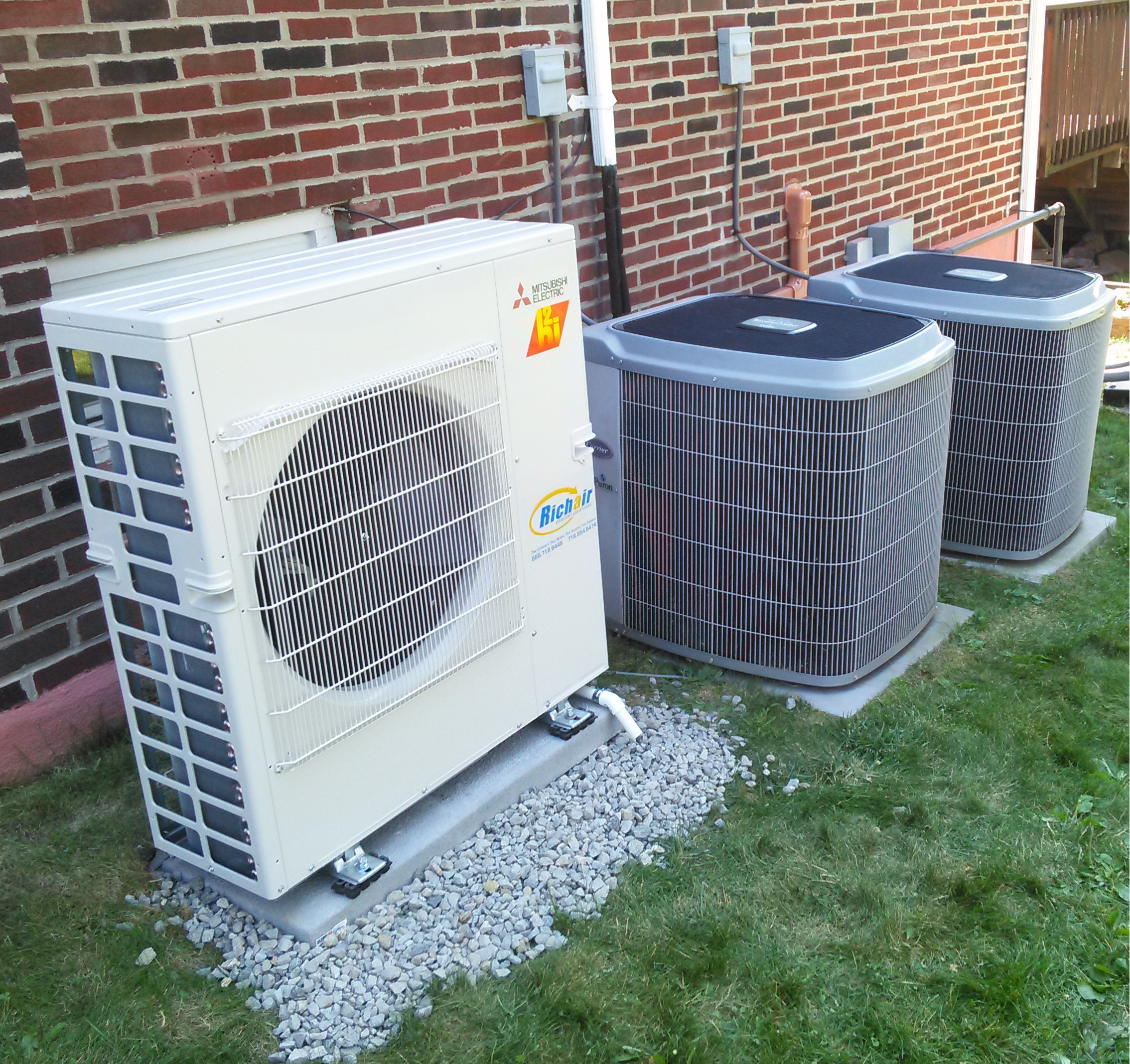 Mini split installation by Richair Comfort Solutions, near Maspeth, NY