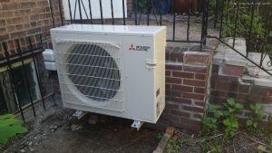 Clean ductless system condenser