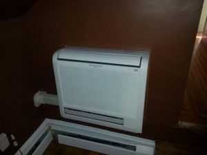 floor mounted ductless units